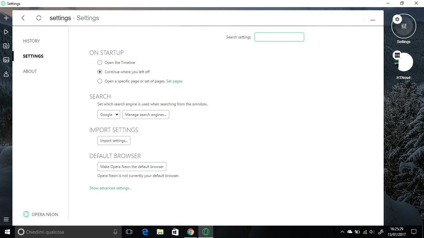 Neon, il nuovo Browser del Team di Opera | Video, Immagini, Download 5 HTN