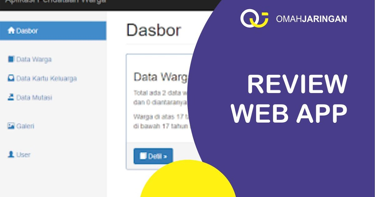 Review Aplikasi Rt Rw Berbasis Web Php Mysql Dan Codeigniter