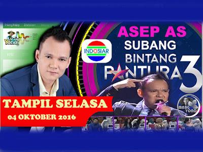 Asep AS Subang Panggung Bintang Pantura 3 babak 36 Besar, Grup 4, Tampil 4 Oktober 2016