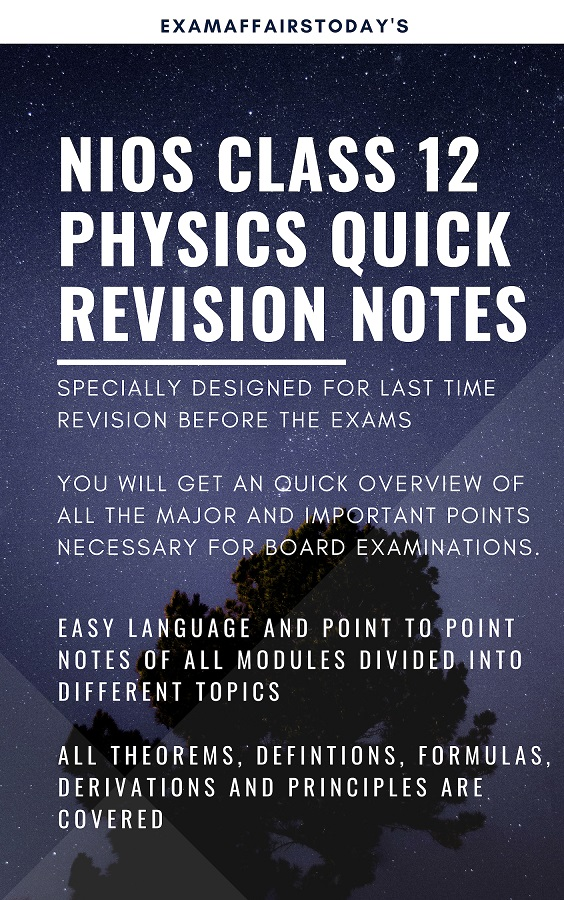 NIOS Class 12 Quick Revision Notes and Solved Sample Papers