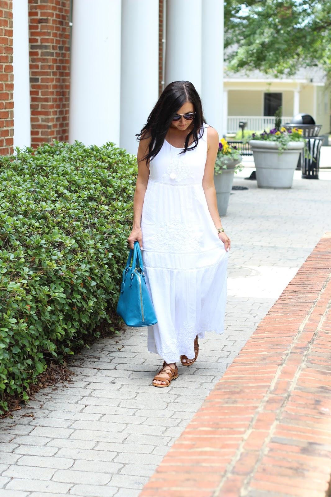 White Maxi Dress, JJillStyle