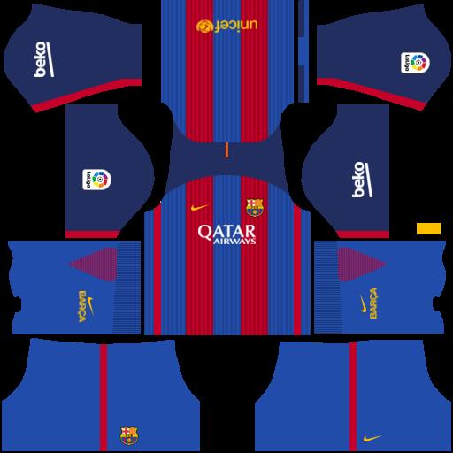 Uniformes para FTS 15 y Dream League Soccer: Kits/Uniformes Barcelona ...