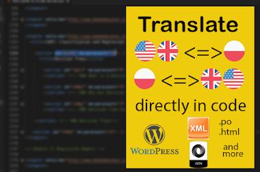 Direct in code translation | English to Polish | Polish to English