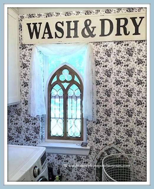 Laundry Room Makeover-Farmhouse Cottage Style-From My Front Porch To Yours