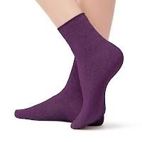 Eflatun renkli kısa soket çorap