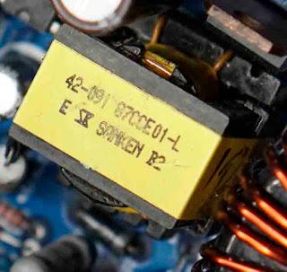 Trafo PWM SMPS Sanken B2 Input 500V output 12V - 19V