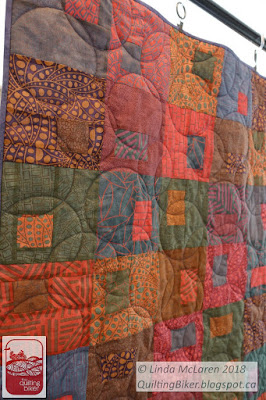 Gems quilt, front view
