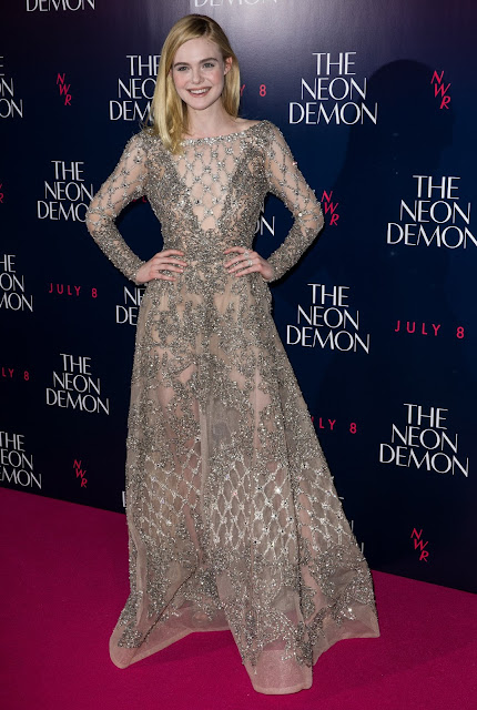 Actress, @ Elle Fanning - The Neon Demon Premiere in London