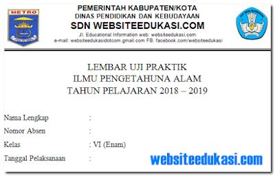 Soal Ujian Praktek IPA SD/MI Tahun 2019