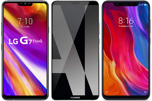 LG G7 ThinQ (LMG710EM) vs Huawei Mate 10 Pro vs Xiaomi Mi 8