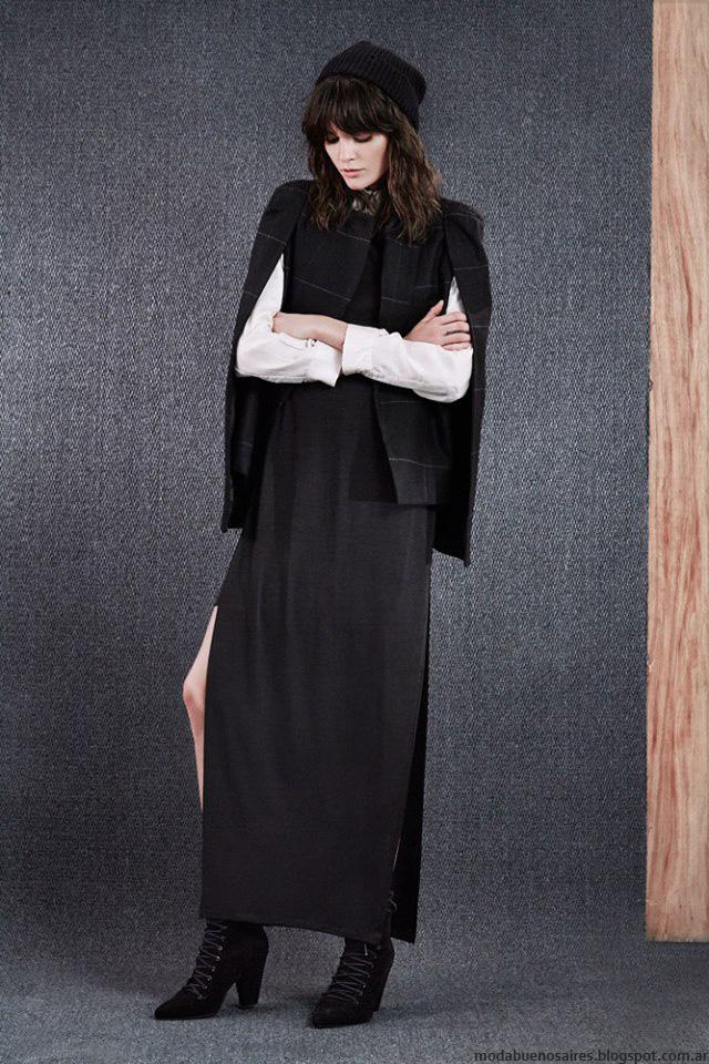Capas y vestidos invierno 2016 ropa de mujer Paula Cahen D'Anvers. Moda 2016.