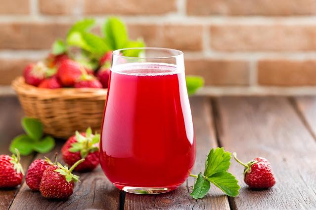 jugo de fresa peruana