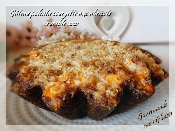 Gâteau polenta courgette aux abricots crumble coco