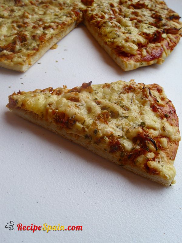 Chicken and cheese pizza