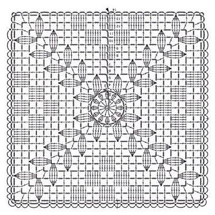 capa de almofada croche grafico
