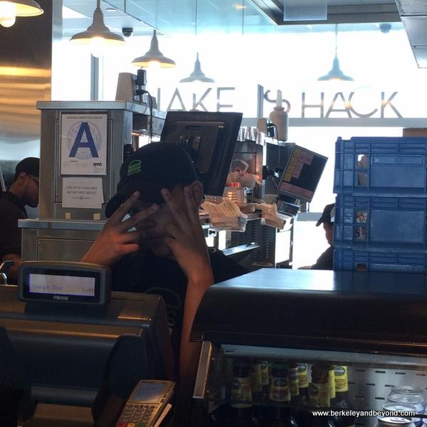 order counter at Shake Shack in Delta terminal at JFK