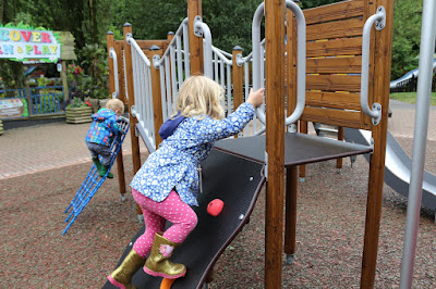 Toddlers play at Paradise Wildlife Park