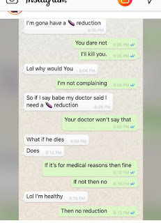 Massively curved Princess Shyngle begs her boyfriend not to have a Pen** reduction. (Screenshot)