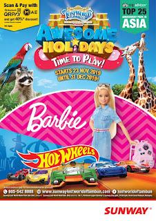 Bercuti ke Lost World Of Tambun kerana Hot Wheels dan Barbie?