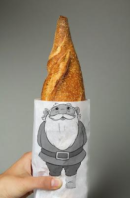 Diseño de bolsa de papel en forma de duende