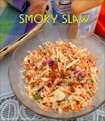 Smoky Slaw compliments any meal, a versatile side dish with lunch or dinner. | Recipe developed by www.BakingInATornado.com | #reicpe