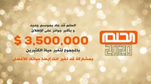 أرقام الإشتراك في مسابقة الحلم MBC Dream من جميع أنحاء العالم وربح 3.5 مليون دولار