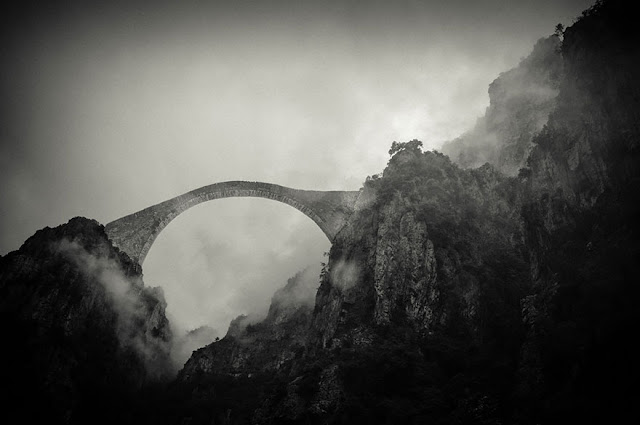 Bridge Pindos Mountains Grecia