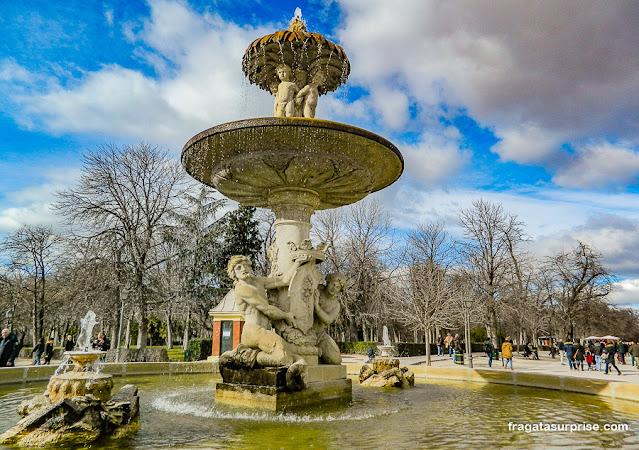 Fonte no Parque do Retiro, Madri