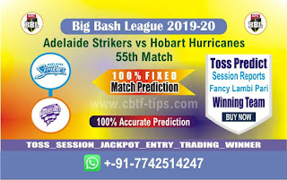 cricket prediction 100 win tips Adelaide vs Hobart