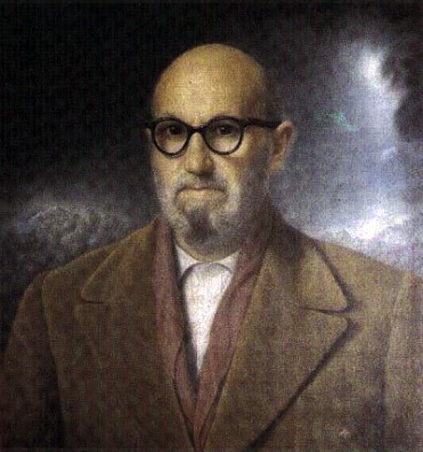 Maestros españoles del retrato, Pintor español, Pintores Catalanes, Retratos de Miquel Viladrich Vila, León Felipe, Retrato de León Felipe