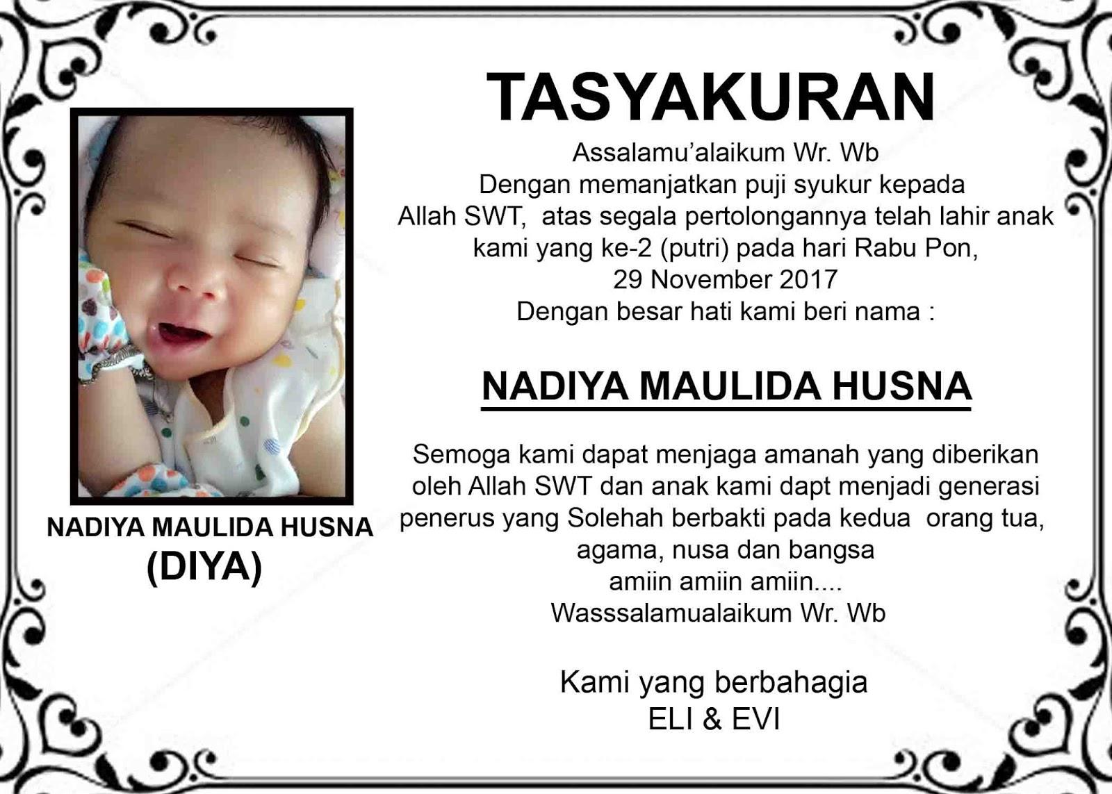 Download Format Tasyakuran Aqiqah Anak Yang Simple Tukang Ngetik