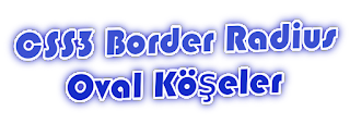 CSS3: Oval Köşeler (Border Radius)