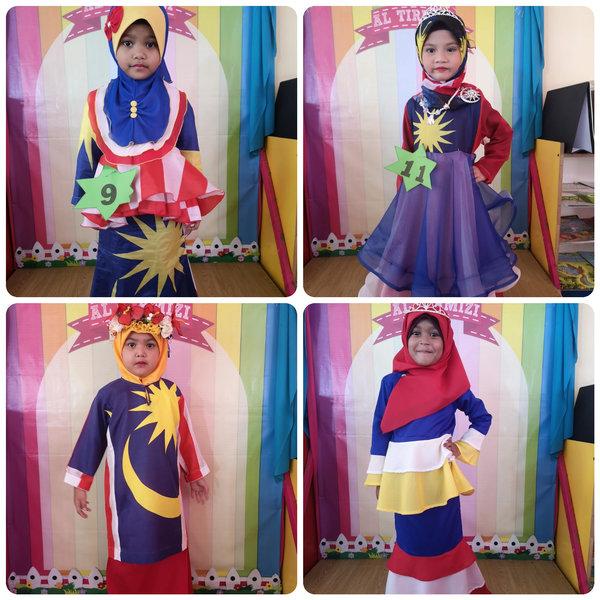 Fesyen Baju Merdeka Kanak Kanak Pra Sekolah Kebangsaan Padang Midin