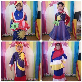 Fesyen Baju Merdeka Kanak-Kanak Pra Sekolah Kebangsaan Padang Midin
