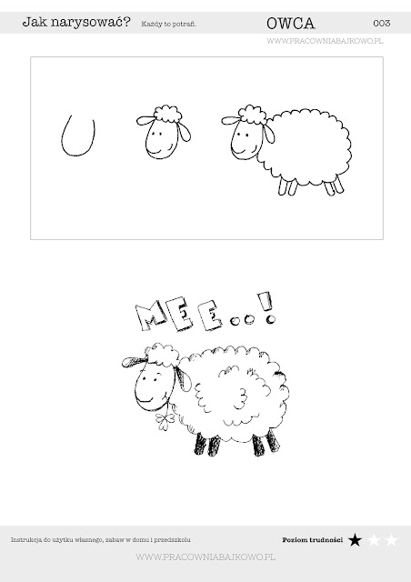 002 Jak narysować OWCĘ ? Instrukcja krok po kroku