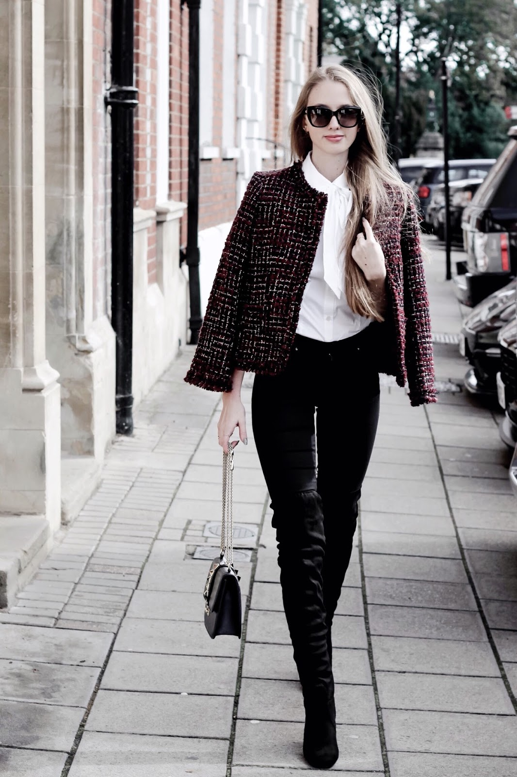 How to Look Chic in a Tweed Jacket in Winter