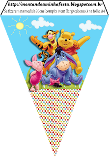 Winnie the Pooh Party, Free Printable Banner.