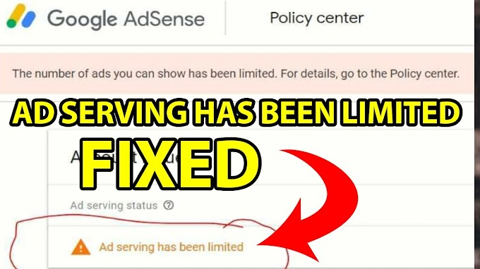 """How to Fix """"The number of ads you can show has been limited."""