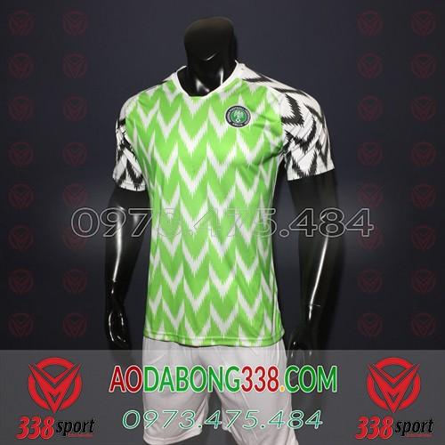 Áo Đội Tuyển Nigeria Xanh 2018 2019 Sân Nhà
