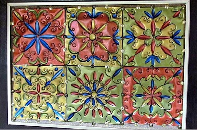 DIY Μεταλλικά Διακοσμητικά Πλακάκια με Ethnic μοτίβα
