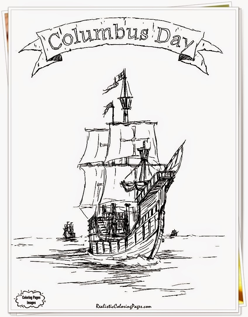 printable coloring pages for columbus day