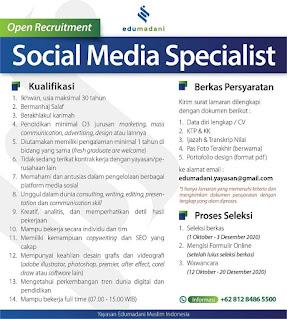 Lowongan Social Media Specialist - Pamulang Tangerang Selatan
