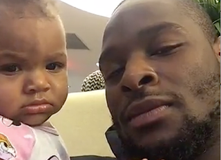 Le Veon Bell With His Daughter Png