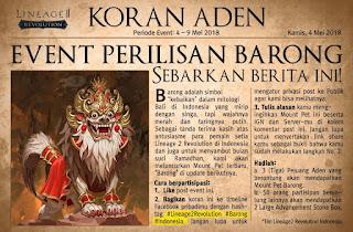 Mount Pet Terbaru Bulan Mei Barong di Lineage 2 Revolution Indonesia
