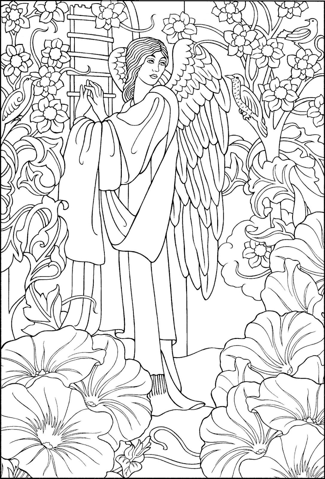 Einfache Malvorlagen Engel Malen