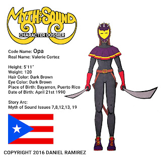 Opa Myth of Sound Daniel Ramirez Puerto Rican super hero female