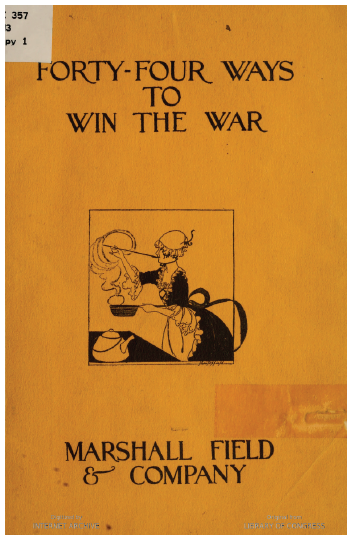Cover of Forty-Four Ways to Win the War: Marshall Field & Company