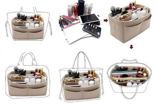 3- LEXSION Felt Purse Bag Organizer Insert with zipper Bag