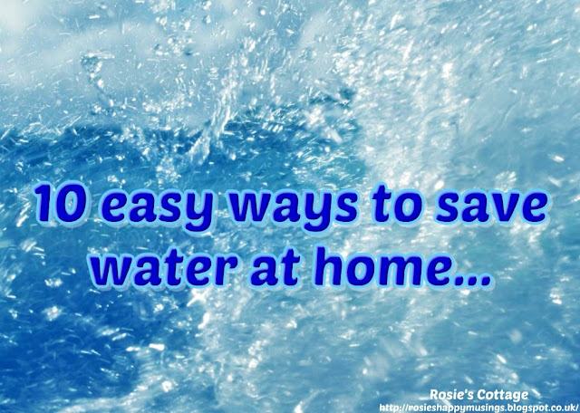 10 easy ways to save water at home