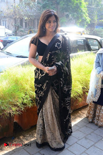 Actress Neetu Chandra Stills in Black Saree at Designer Sandhya Singh's Store Launch  0062.jpg